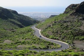 Road on a mountain on Canary Islands