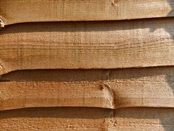natural wood fence close-up