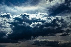 dark furry Clouds scene