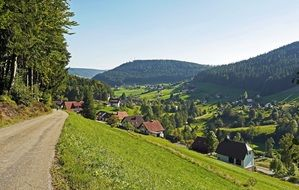village houses in the clay valley in Northern Black Forest