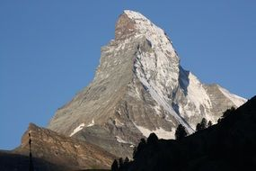 photo of snowy top of Matterhorn