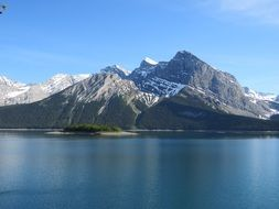 scenic upper kananaskis lake in Canada