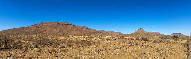 Africa Namibia Wilderness Mountain desert Panorama