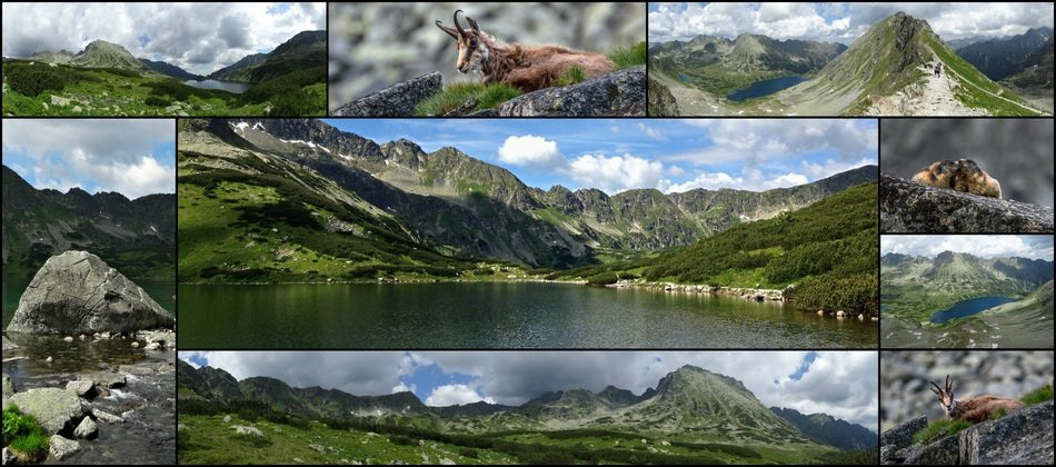 Landscape of Tatry Mountains in Poland