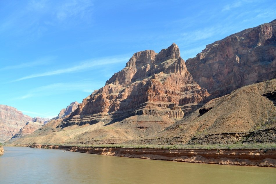 river in grand canyon on a sunny day