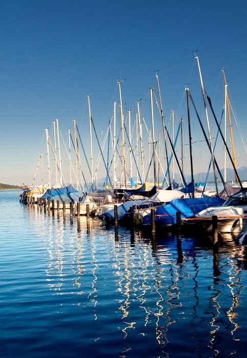 sailing boats in a port in Upper Bavaria