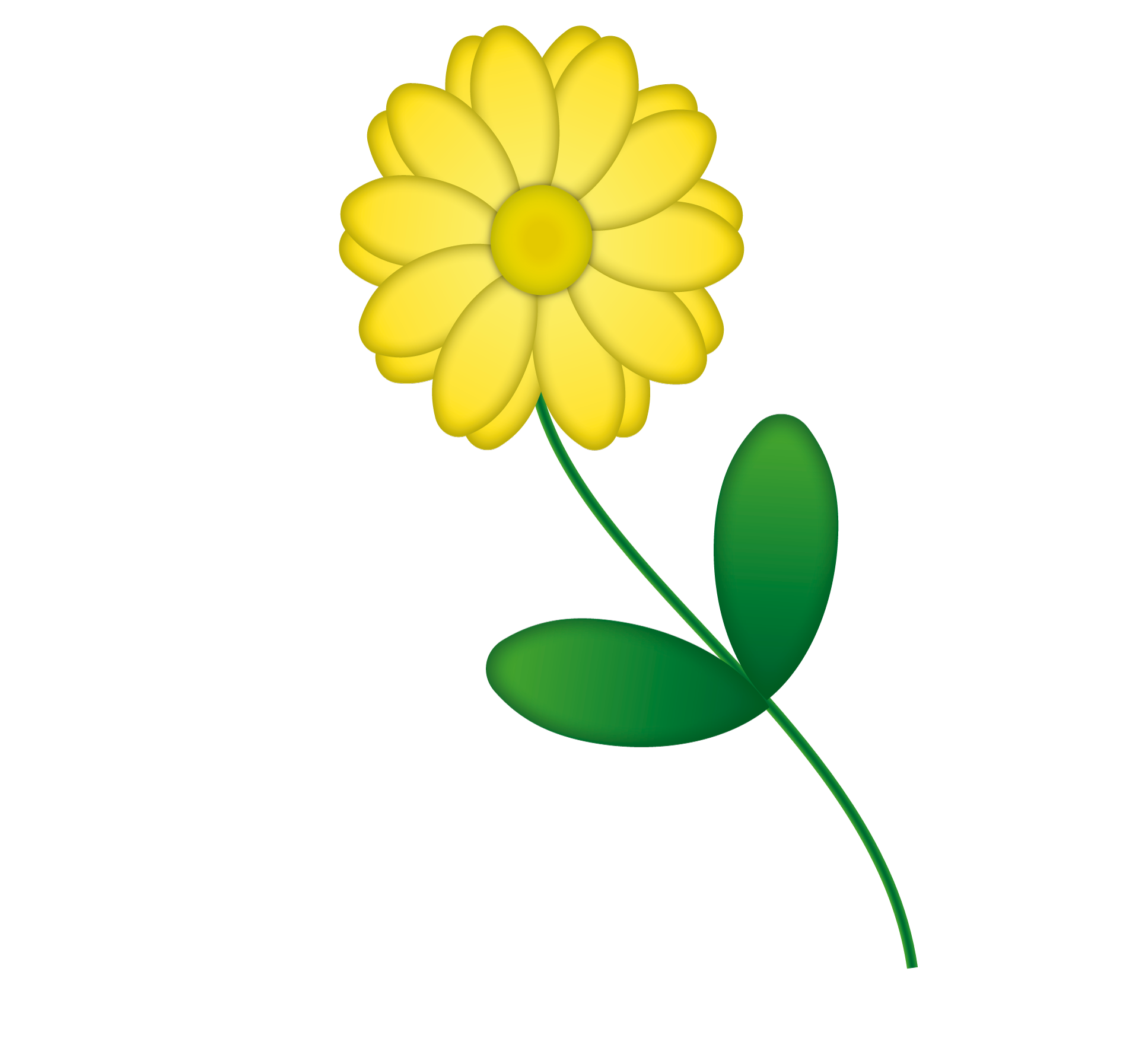 Drawing Of An Isolated Yellow Flower Free Image
