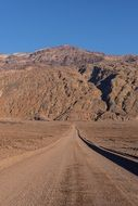 road in a death valley in california