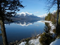landscape with Lake Mcdonald and Mount Vaught