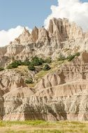 rock formations in the Badlands
