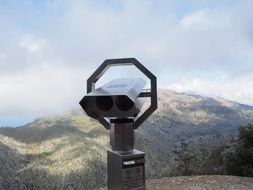 viewpoint telescope in mountains