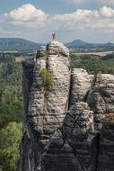 sandy mountains in Saxon Switzerland