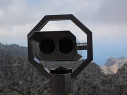 telescope of the viewpoint in Mallorca