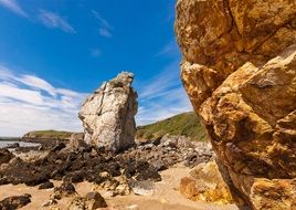 scenic sandstone rock formations on Seaside