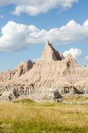 eroded rocks in the badlands