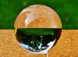 mirror reflection in a glass ball