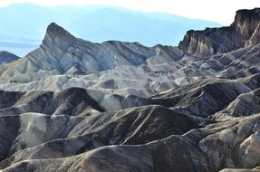 Landscape of Death Valley in a national park