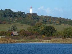 tower of the lighthouse on the Hiddensee island