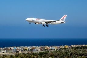 plane departed from Las Palmas de Gran Canaria airport, Spain