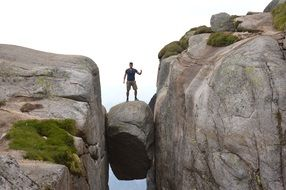 Hiking on a Kjerag