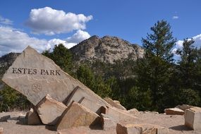 Landscape of Estes park in America