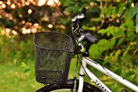 bike with basket close up