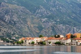 village near the sea off the coast of montenegro