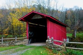 small covered bridge in west virginia