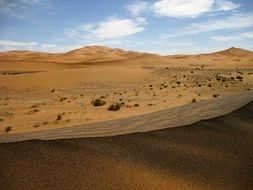 structure of a sandy desert in morocco