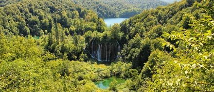 wonderful waterfall in Plitvice Lakes National Park