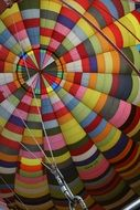 Colourful Cables on a hot air balloon