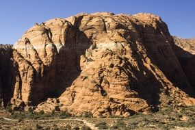 landscape of snow canyon in utah