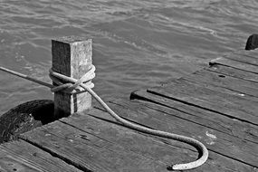 boat mooring on the boardwalk