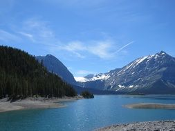 Canadian upper kananaskis lake