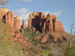 rock formations of red sandstone canyon, usa, arizona, Sedona, Red Rocks state park