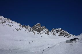 skiing in the arlberg mountains