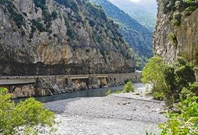 gorge and river in Alpes-Maritimes in the South of France