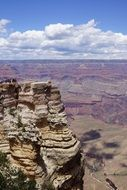 panorama of the valley in the Grand Canyon on a sunny day