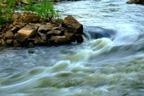 Water Rapids in nature