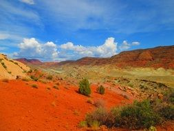 Scenic landscape of National Park in Utah