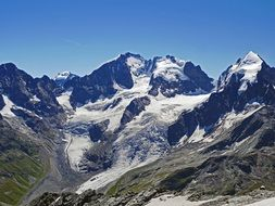Bernina - mountain range in eastern Switzerland