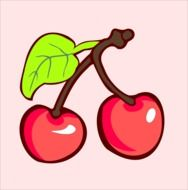 Cherry Harvest Plant vector drawing