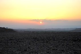 scenic Sunset in Desert, Jordan