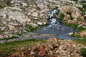 rapid stream in the mountains in Colorado