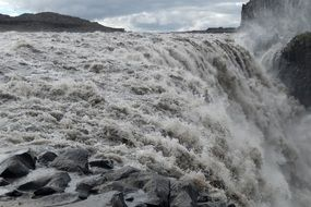 Dettifoss is a powerful waterfall in Iceland