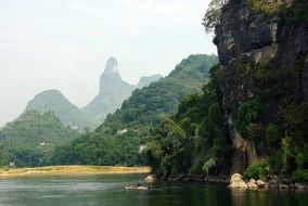 amazing China Yangshuo Li River Boat view