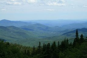 panorama of green mountains in vermont
