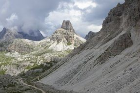 Dolomty Mountains dramatic view