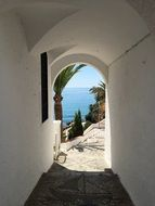 White doorway in Spain