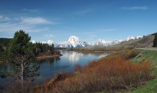 Landscape with the Tetons National Park